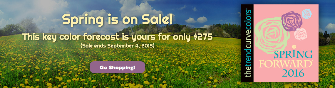 Spring is on Sale!  This key color forecast is yours for only $275 (Sale ends September 4, 2015)