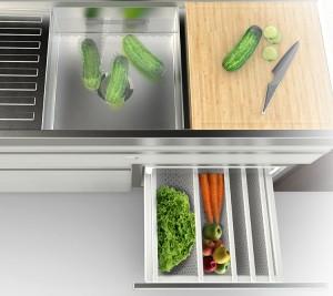 Inline Food Prep in a Future Kitchen