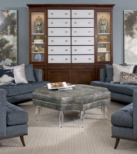 AMBELLA HOME Sectional Bibliotheque French Key Accent